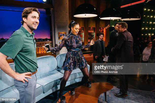 Luke Wilson Laverne Cox and Trevor Noah chat with James Corden during 'The Late Late Show with James Corden' Tuesday February 21 2017 On The CBS...