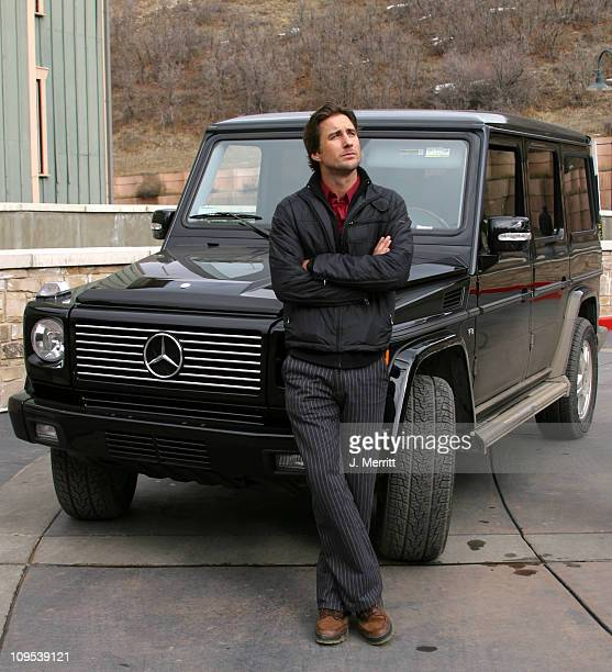 Luke Wilson with the MercedesBenz G500 during 2003 Park City Mercedes Benz in Park City in Park City Utah United States