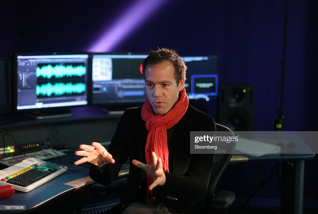 Luke Wood, president and chief operating officer of Beats Electronics LLC, gestures during a Bloomberg Television interview in London, U.K., on Thursday, Nov. 8, 2012. Beats, founded by music producer Jimmy Iovine and rapper Dr. Dre, plans over time to introduce features designed to make MOG music-streaming service easier for users to discover new bands and artists, Wood said. Photographer: Simon Dawson/Bloomberg via Getty Images