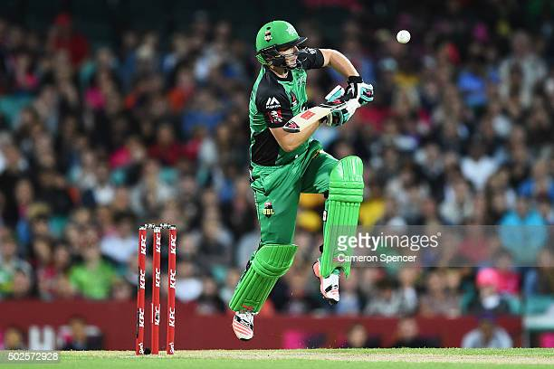 Luke Wright of the Stars bats during the Big Bash League match between the Sydney Sixers and the Melbourne Stars at Sydney Cricket Ground on December...
