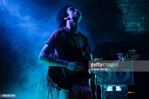 Luke Wynter of Roller Trio performs on stage at Brudenell Social Club on May 9 2014 in Leeds United Kingdom