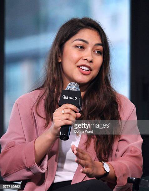 Lulu Antariksa appears to discuss 'Tagged' during the AOL BUILD Series at AOL HQ on July 19 2016 in New York City