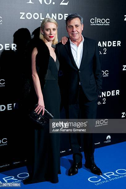 Lulu Figueroa and Angel Schlesser attends the Madrid Fan Screening of the Paramount Pictures film 'Zoolander No 2' at the Capitol Theater on February...