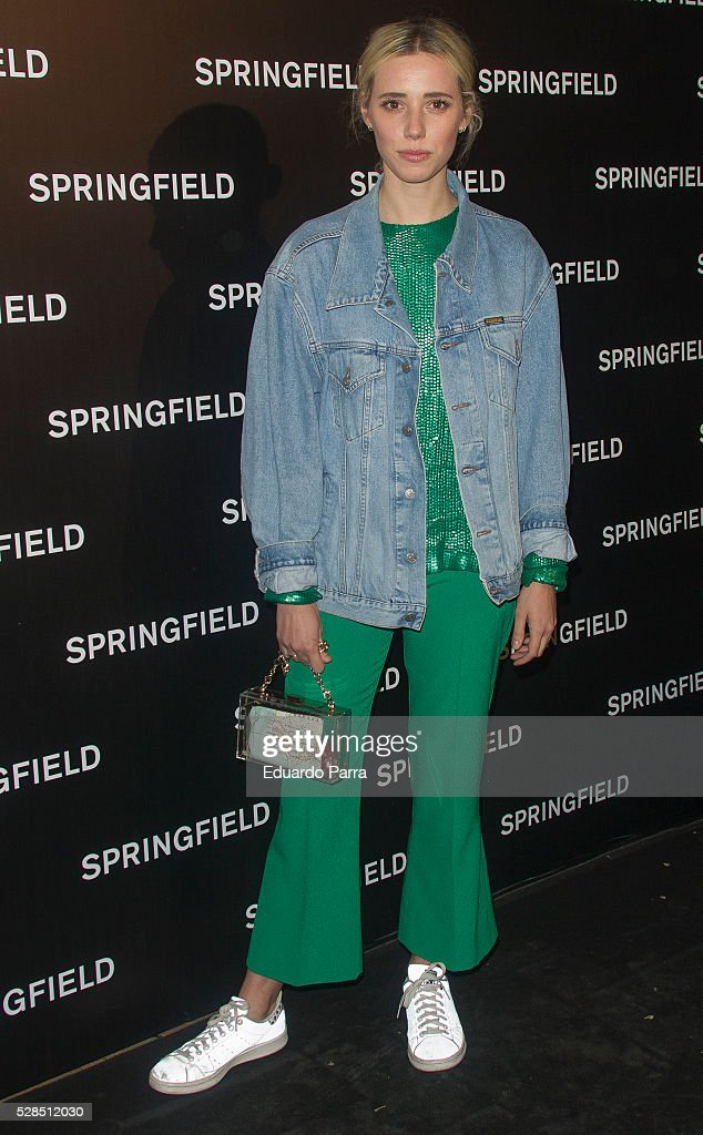 Lulu Figueroa attends the Springfield fashion film presentation photocall at Fortuny palace on May 05, 2016 in Madrid, Spain.