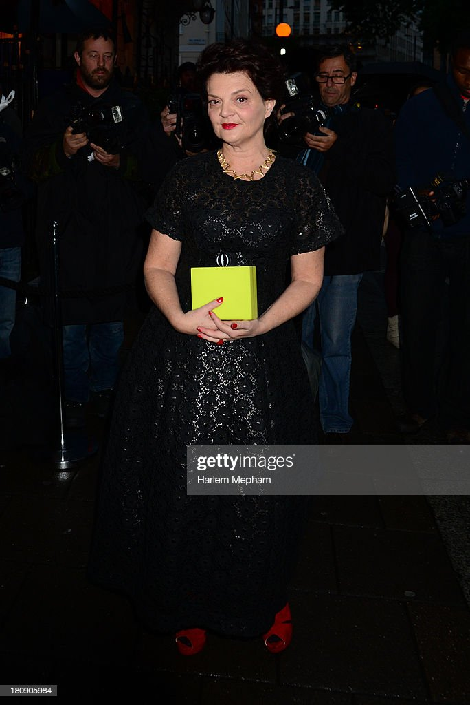 Lulu Guinness arrives at Annabels for LFW Closing party on September 17, 2013 in London, England.