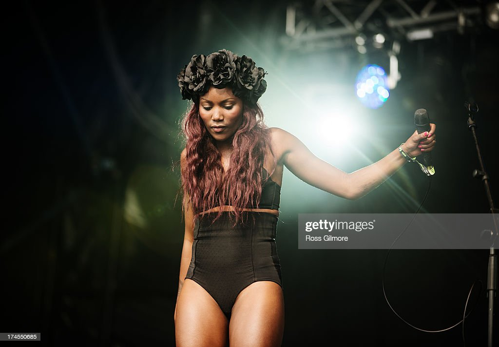 Lulu James performs on stage on Day 2 of Wickerman Festival on July 27, 2013 in Dundrennan, Scotland.