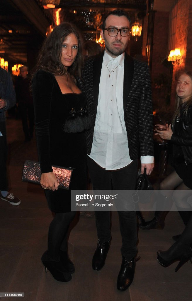 Lulu Kennedy and designer James Long attend the Orient Express Party on Day 4 of the MercedesBenz Fashion Week Russia Fall/Winter 2011/2012 at the...