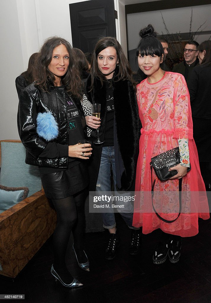 Lulu Kennedy Anna Stamford and Susie Lau attend the Motilo Winter Cocktail on November 26 2013 in London England