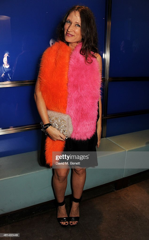 Lulu Kennedy attends the London Collections Men closing dinner hosted by Dylan Jones and Anya Hindmarch at Hakkasan Hanway Place on January 8 2014 in...