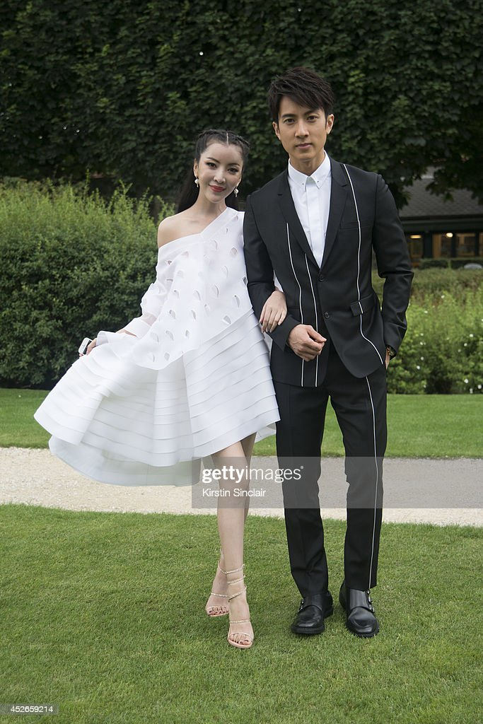 Lulu Tan wearing Dior and Zan Wu day 2 of Paris Haute Couture Fashion Week Autumn/Winter 2014, on July 7, 2014 in Paris, France.
