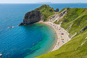 View from Lulworth Cove to Durdle Door in Cornwall, England