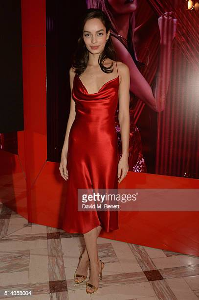 Luma Grothe attends the Red Obsession party in Paris to celebrate L'Oreal Paris's partnership with Paris Fashion Week L'Oreal Paris spokesmodels...