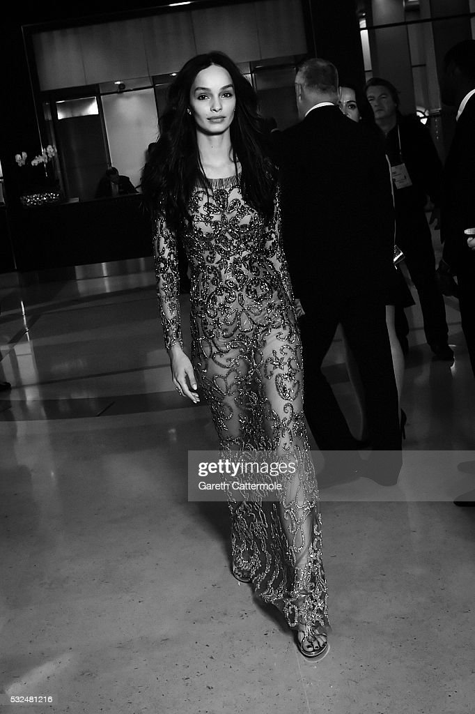 Luma Grothe departs the Martinez Hotel during the 69th annual Cannes Film Festival on May 17 2016 in Cannes France