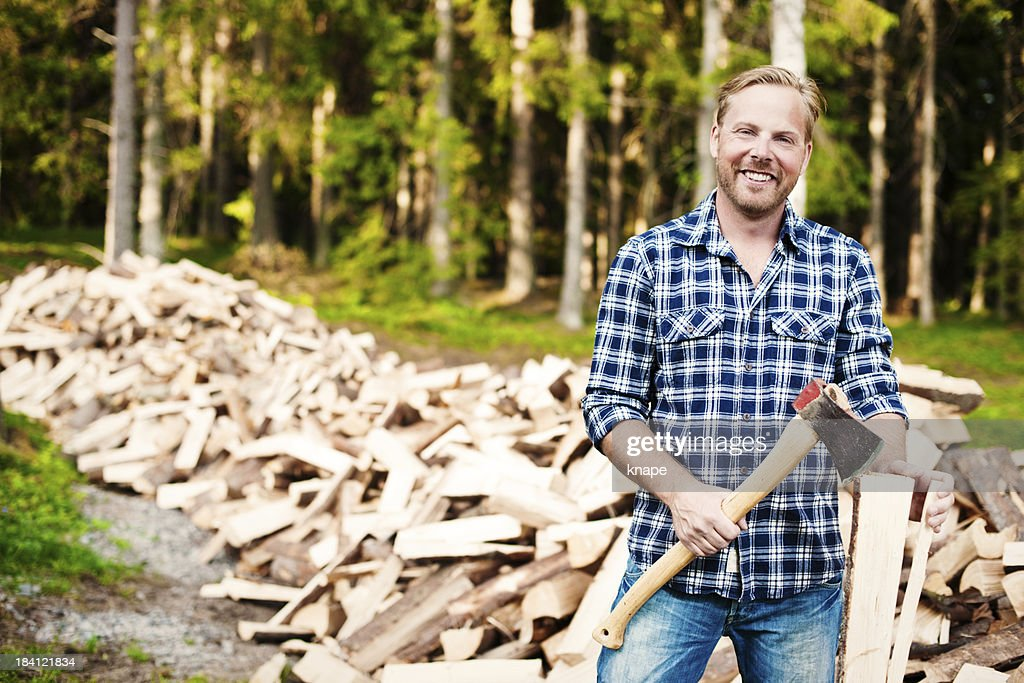 Lumberjack with axe