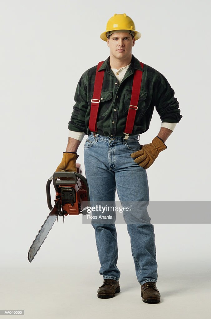 Lumberjack with Chainsaw : Stock Photo