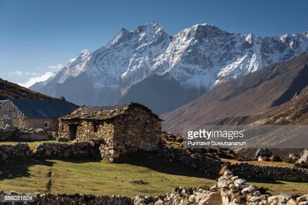 Lumde village in a beautiful morning, Everest region, Nepal