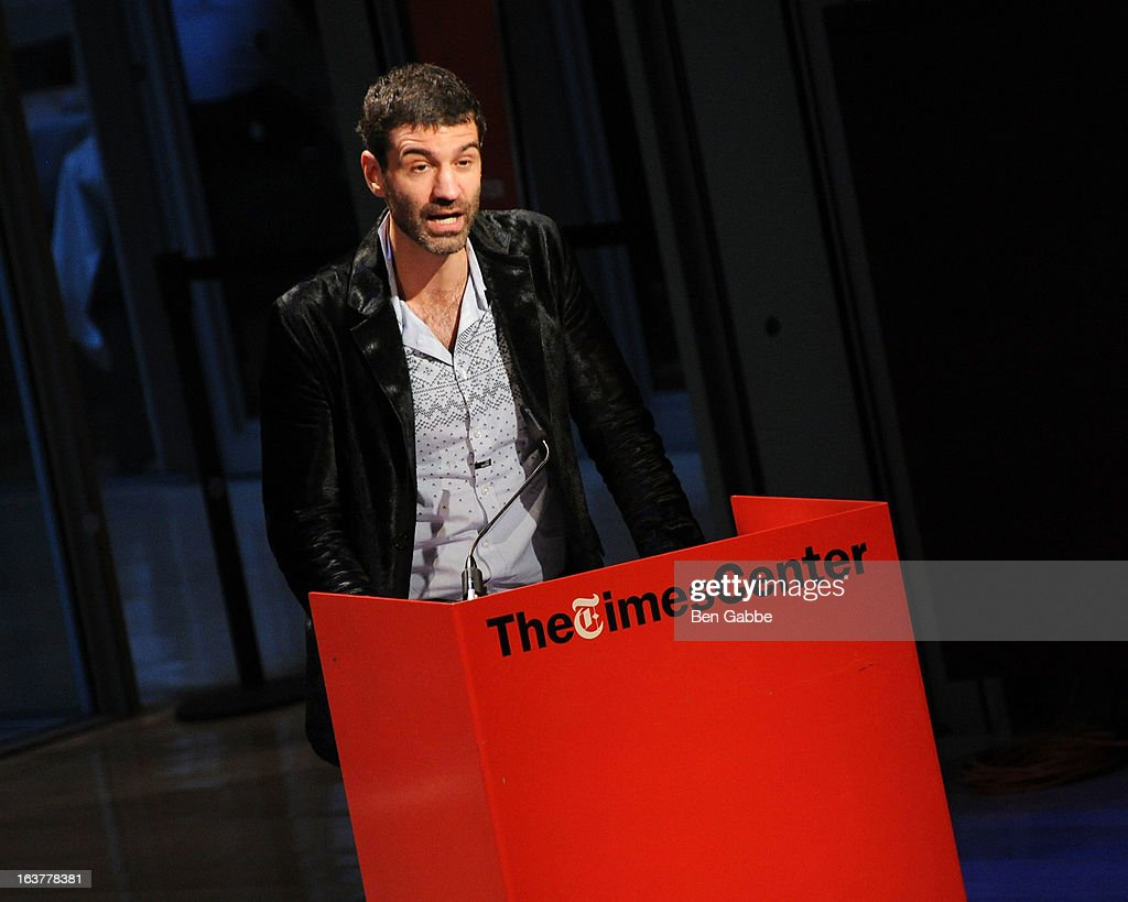 Luminato Festival Artistic Director Jorn Weisbrodt speaks at TheTimesCenter on March 15, 2013 in New York City.