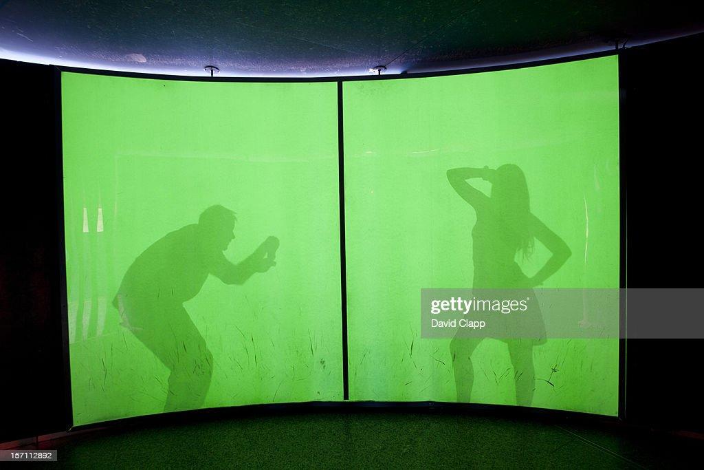 Luminous wall, Science Museum, Valencia, Spain : Foto stock