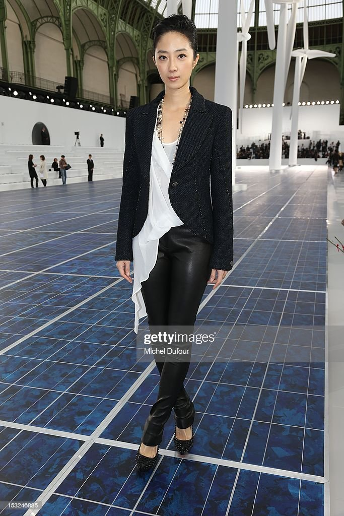 Lun Mei Guey attends the Chanel Spring / Summer 2013 show as part of Paris Fashion Week at Grand Palais on October 2, 2012 in Paris, France.