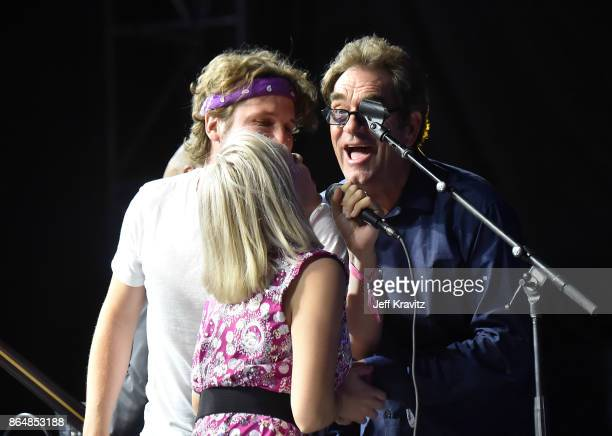 Luna Aura Wes Miles of Ra Ra Riot and Huey Lewis of Huey Lewis and the News perform during Soul Bugs Superjam The DapKings play The Beatles at...