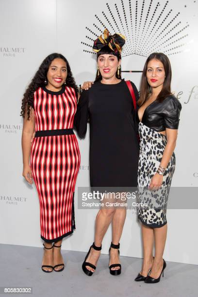 Luna Mary Rossy de Palma and Hiba Abouk attend the 'Chaumet Est Une Fete' Haute Joaillerie Collection Launch as part of Haute Couture Paris Fashion...