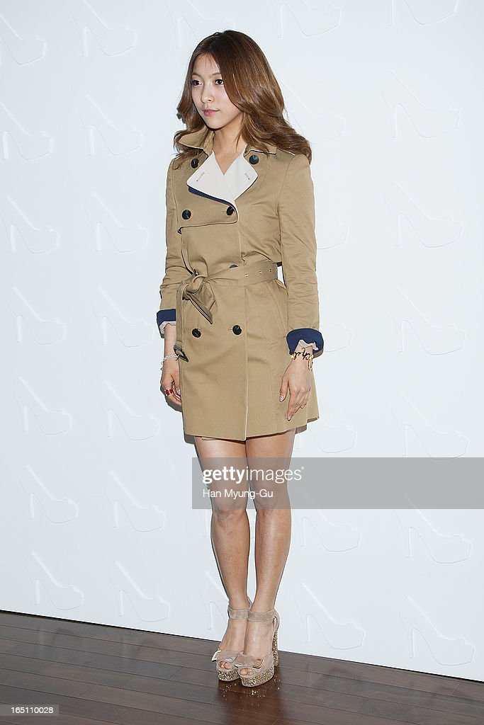 Luna of girl group f(x) attends the 'Suecomma Bonnie' 10th Anniversary Exhibition at Conrad Hotel on March 29, 2013 in Seoul, South Korea.
