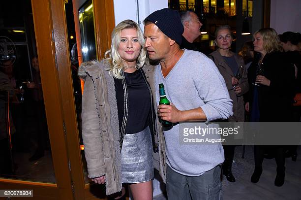 Luna Schweiger and her father Til Schweiger attend the Grand Opening of the 'Barefood Deli' restaurant on November 2 2016 in Hamburg Germany