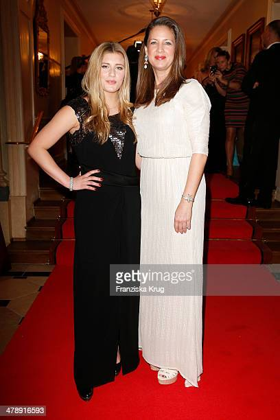 Luna Schweiger and her mother Dana Schweiger attend the Gala Spa Awards 2014 at Brenners Parkhotel BadenBaden on March 15 2014 in BadenBaden Germany