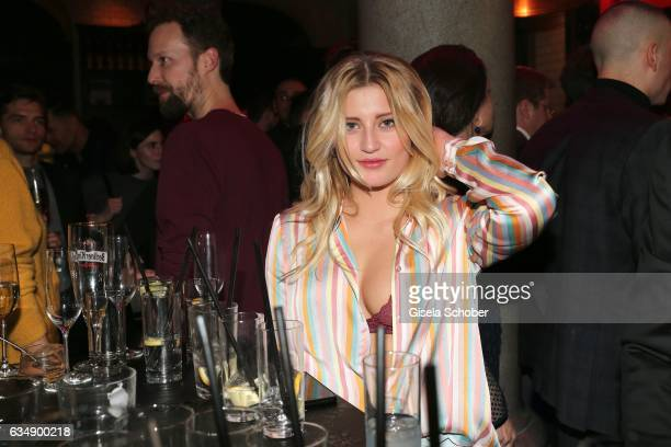 Luna Schweiger daughter of Til Schweiger in undonelook during the BUNTE BMW Festival Night 2017 during the 67th Berlinale International Film Festival...