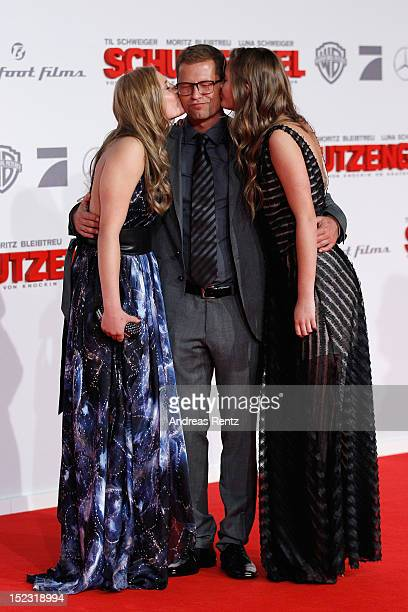 Luna Til and Lilli Schweiger attend the 'Schutzengel' Premiere at CineStar on September 18 2012 in Berlin Germany