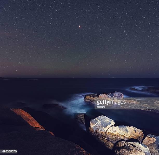 Eclipse Lunar paisaje marino