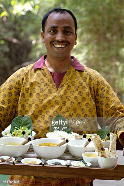 Lunch at Mahua Kothi a safari lodge on the edge of Baghavahn National Park Opened in late 2006 Mahua Kothi is a collaboration between CC Africa a...