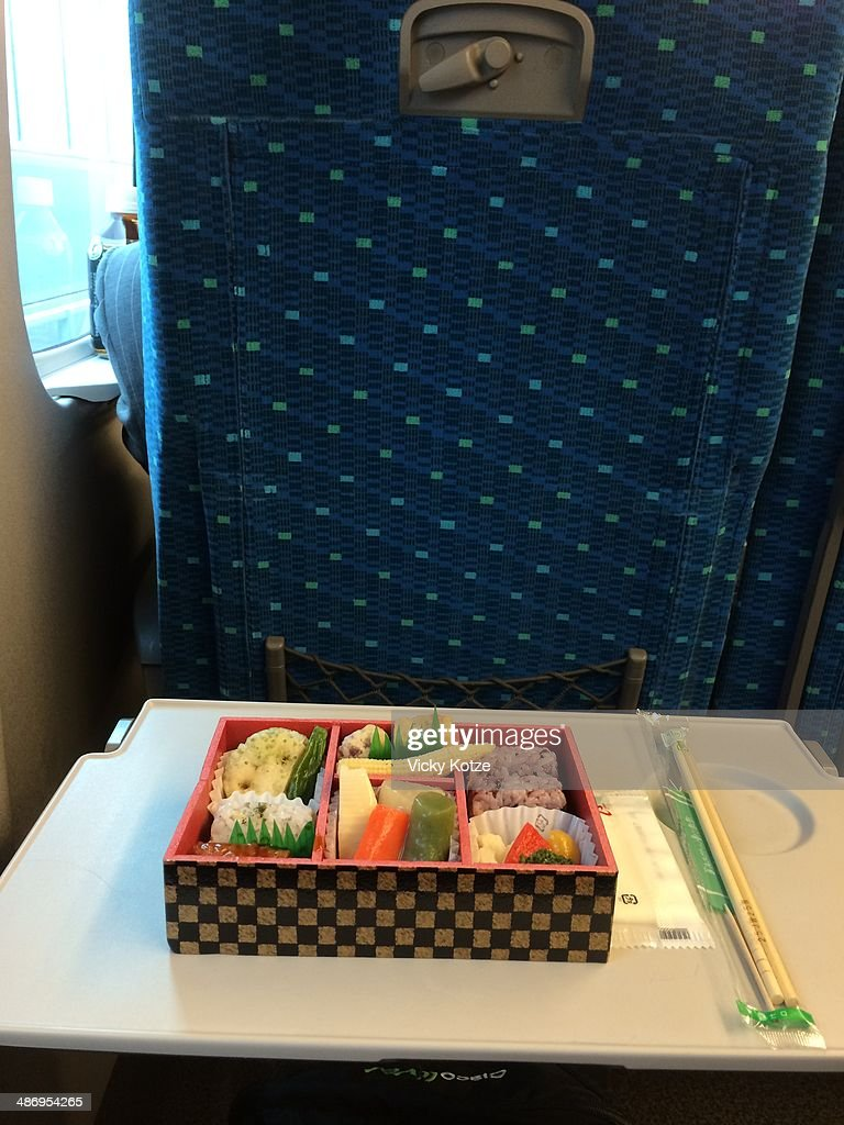 Lunch bought in transit at Tokyo station on board the Shinkansen