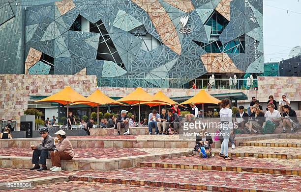 Lunch break at Federation Square