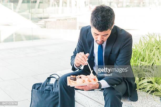 Almuerzo con sushi fuera de oficina