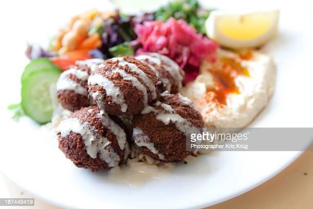 Lunch Falafel Hummus Mediterranean Cuisine