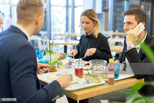 Lunch in cafeteria