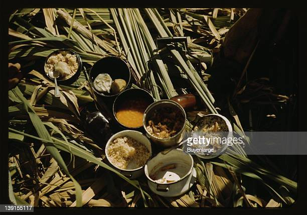 Lunch of a sugar worker on a plantation Puerto Rico 1942