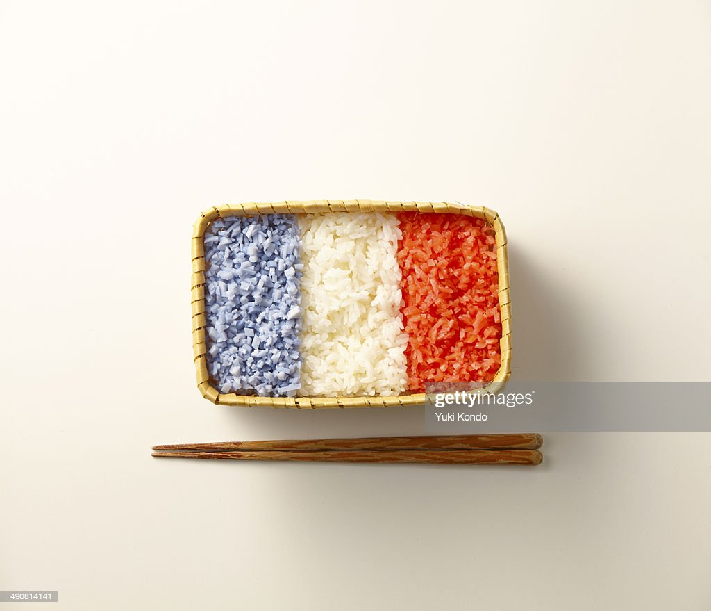 Lunch of the French flag pattern.