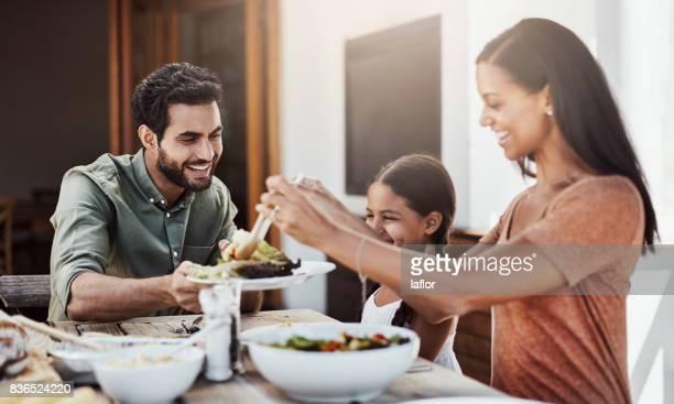 Das Mittagessen ist eine Familienangelegenheit