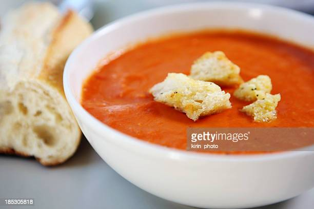 lunch - tomato soup, bread