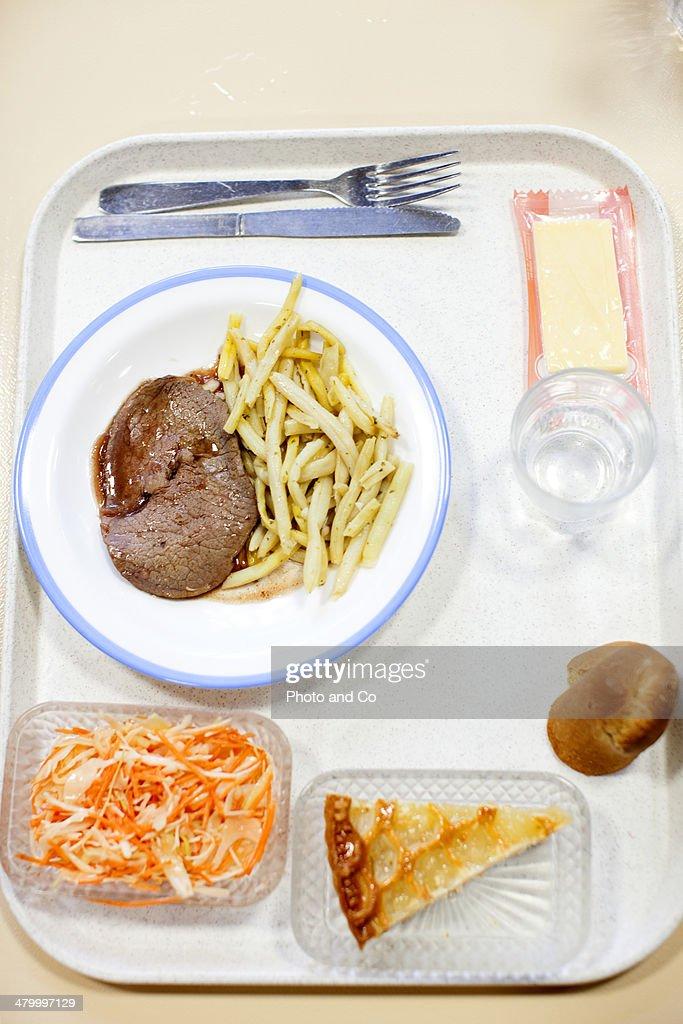 lunch tray  in school lunchroom