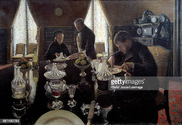 Luncheon Painting by Gustave Caillebotte 1876 Oil on canvas Private collection