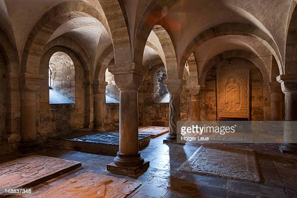 Lund Cathedral crypt interior.