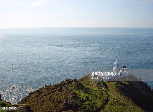 Lundy Light House and Atlantic Ocean