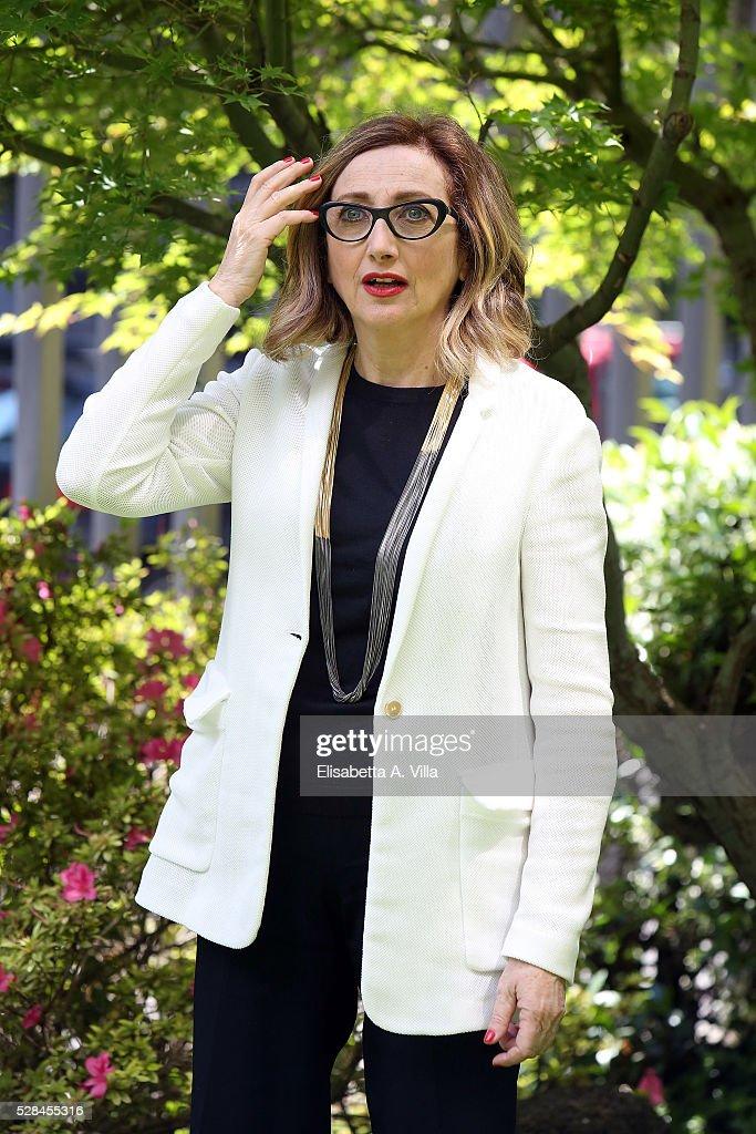 Lunetta Savino attends a photocall for 'Felicia Impastato' RAI TV movie at Viale Mazzini on May 5, 2016 in Rome, Italy.