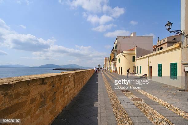 Lungomare Bastioni Marco Polo Alghero Sardinia Italy