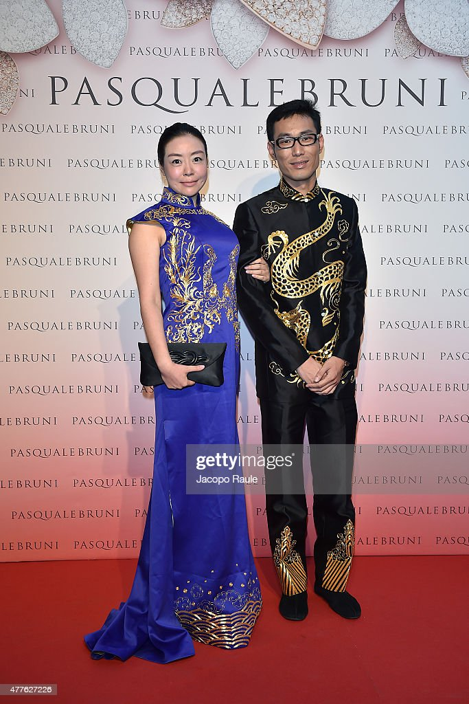 Luo Lei and Lui Sitong attend Pasquale Bruni - Giardini Segreti Cocktail Party on June 18, 2015 in Milan, Italy.