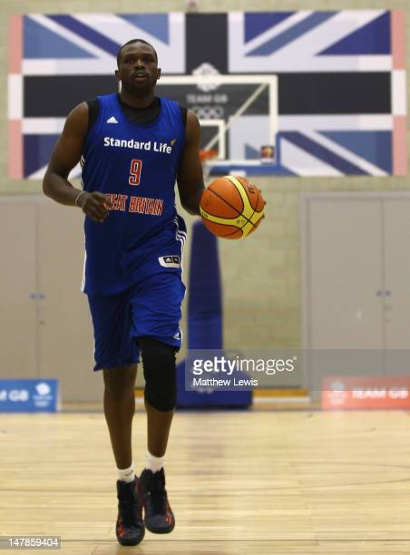 Luol Deng of Great Britain in action during the Team GB Basketball Athletes Announcement For London 2012 Olympic Games at Loughborough University on...