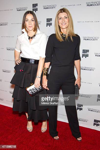 Lupe Puerta and Sarah Rutson arrive at the Film Society Awards night at 58th San Francisco International Film Festival at The Armory on April 27 2015...